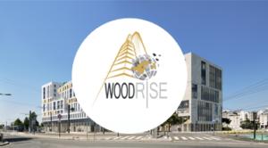 Logo du Congrès Woodrise à Bordeaux : immeuble bois de moyenne et grande hauteur