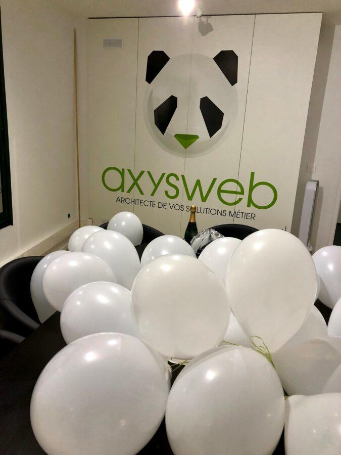 Décoration des locaux : axysweb 10 ans