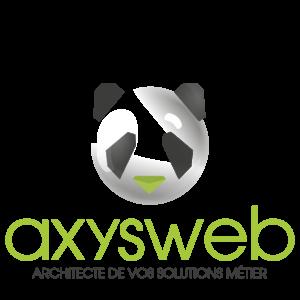 Logo couleur de la société Axysweb à Bordeaux
