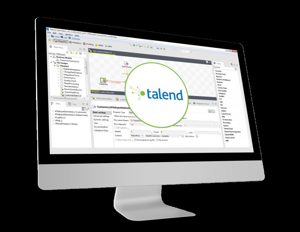 Logo ETL talend sur écran d'accueil de talend