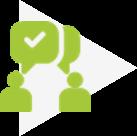 """Icone """"Optimiser la relation client"""""""